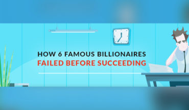 The Inspiring Journey of 6 Billionaires from Failure to Success - Infographic