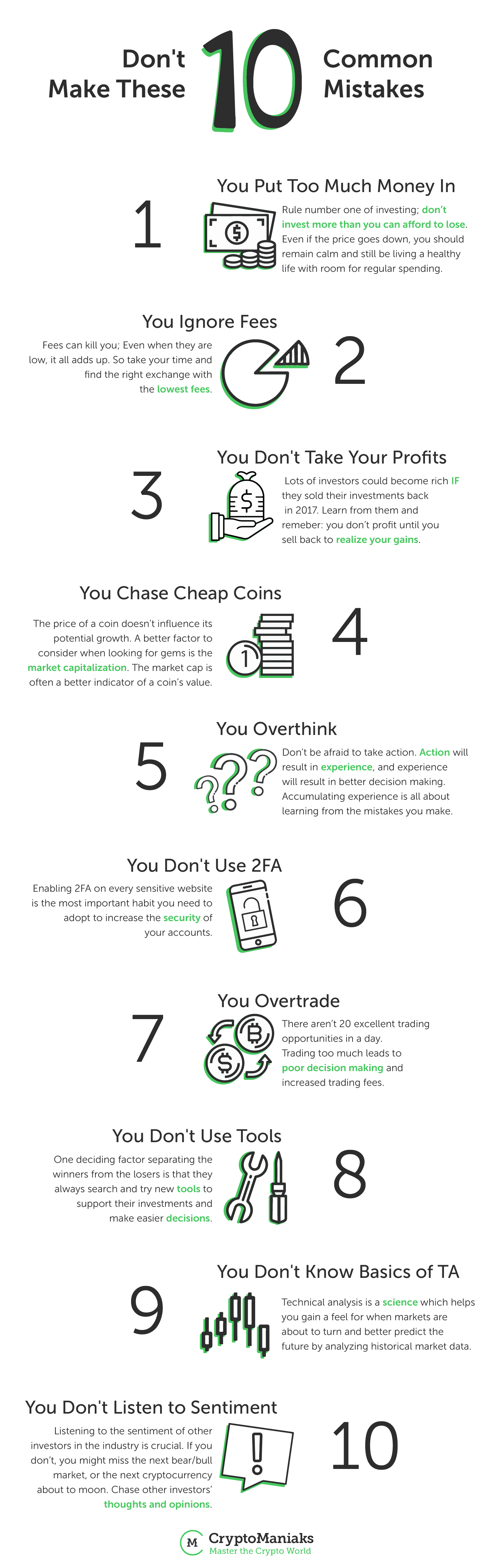 10 Pitfalls Crypto Investors Should Care About - Infographic