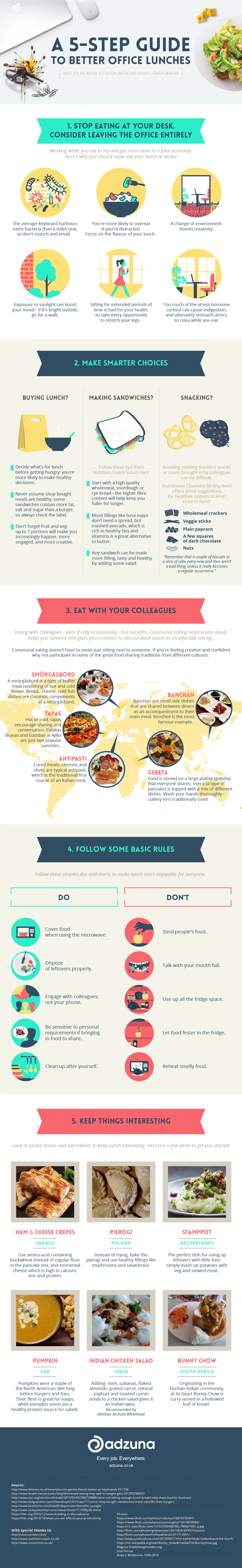 Healthy Office Lunches in Five Easy Steps - Infographic