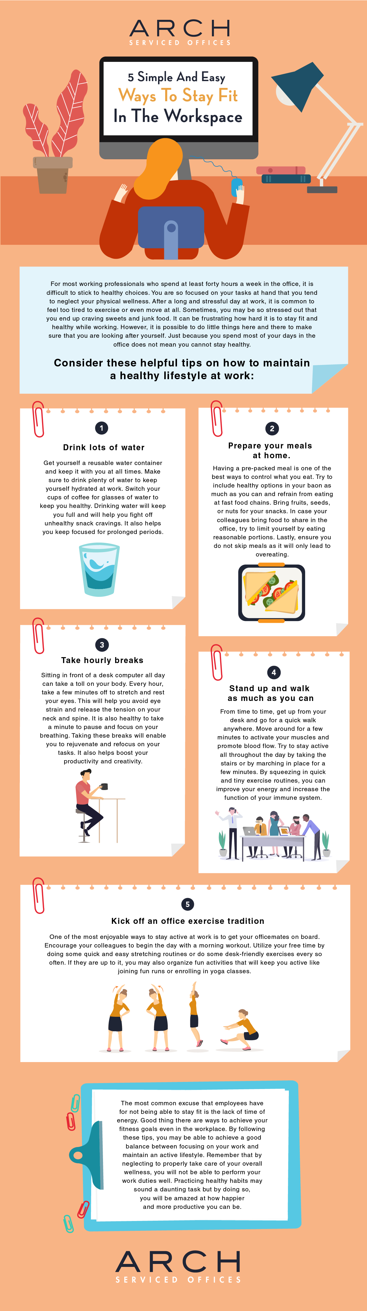 How to Stay Healthy Despite Extreme Work Stress - Infographic