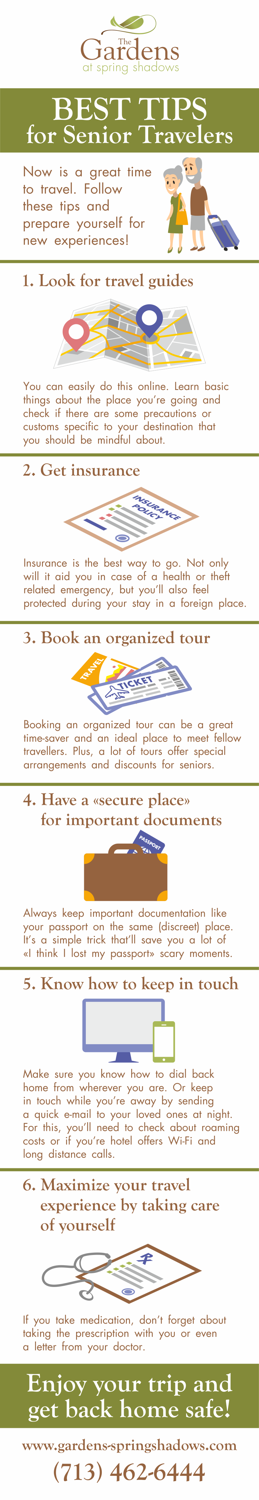 Practical Tips for Senior Travelers - Infographic