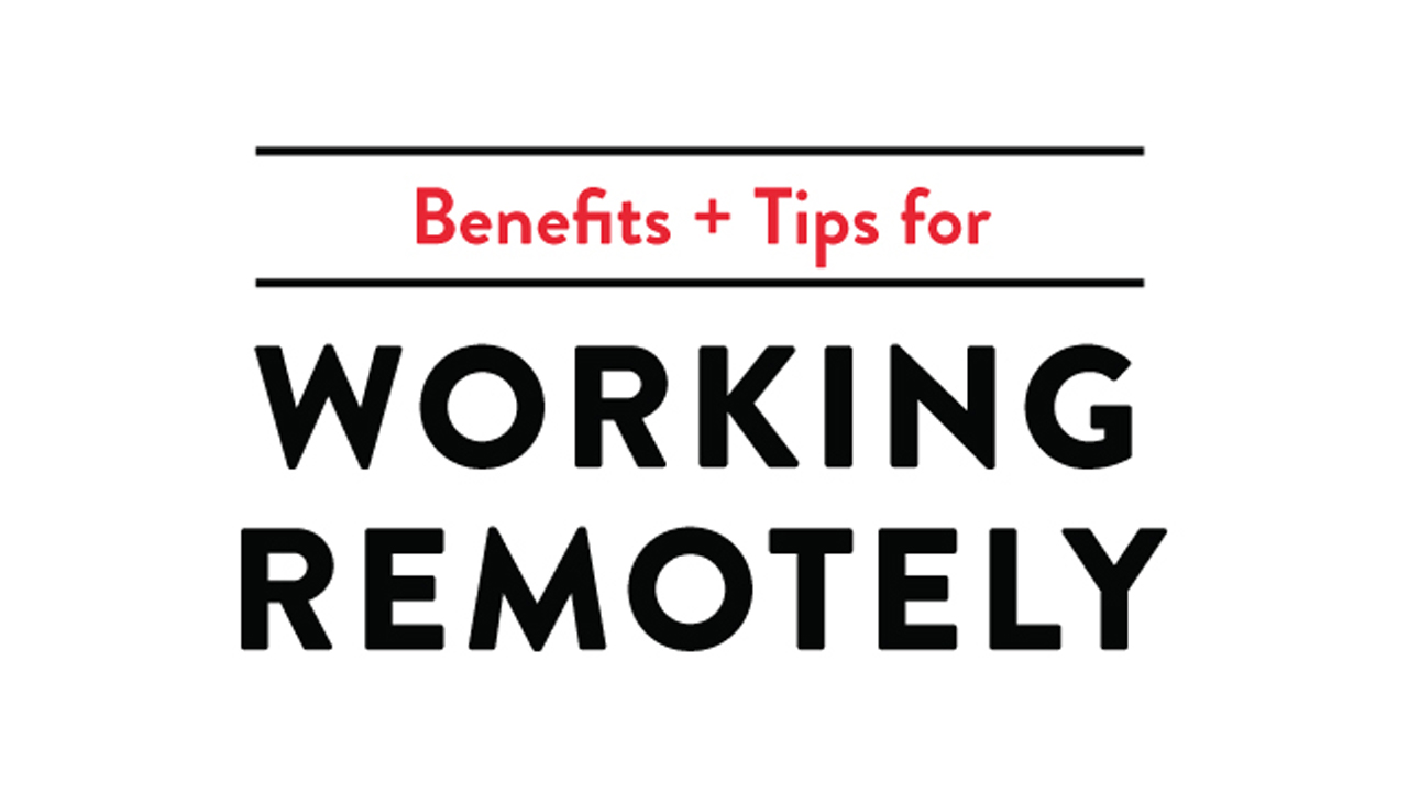 Productivity Enhancing Tips for Those Who Work from Home - Infographic