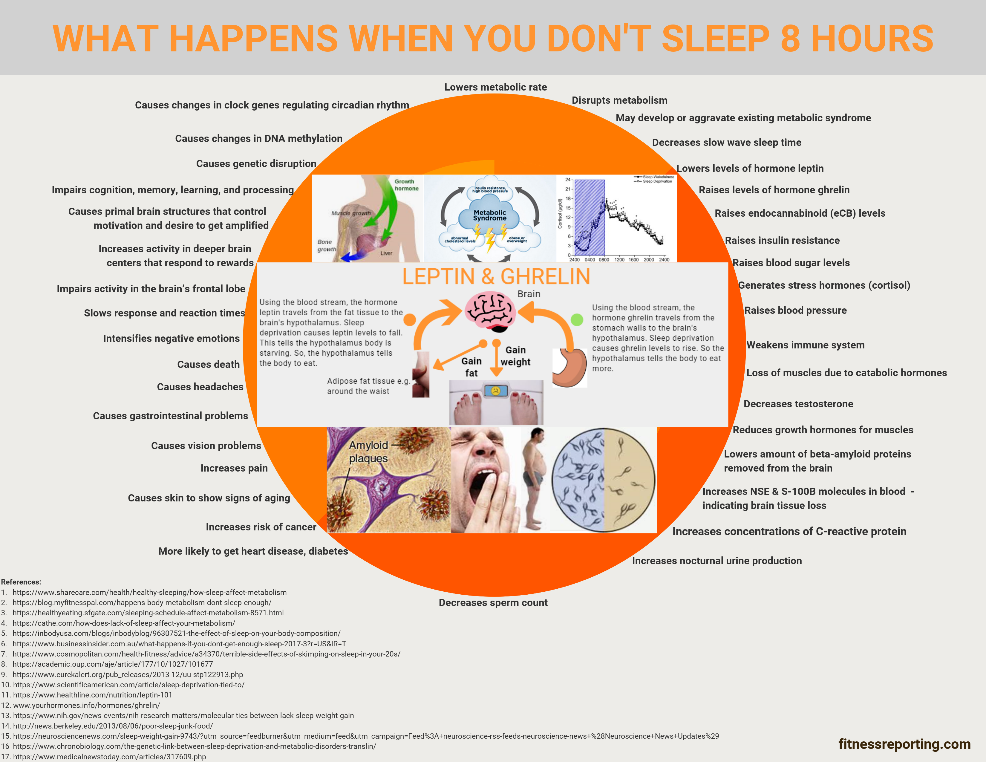 37 Reasons Why Not Sleeping 8-Hours Daily is a Bad Idea! - Infographic