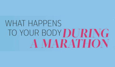 26.2 miles, 33000 steps: How Your Body Behaves During a Marathon - Infographic