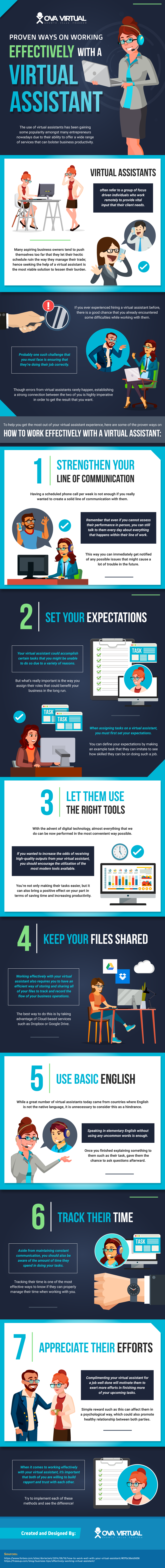 Proven Ways on Working Effectively with a Virtual Assistant - Infographic