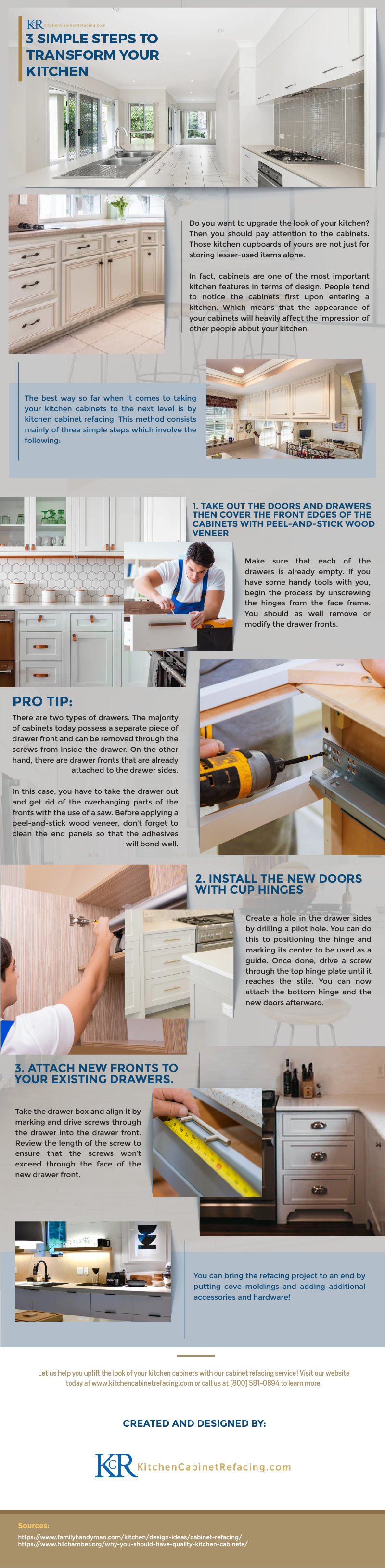 3 Simple Steps to Transform Your Kitchen Cabinets - Infographic