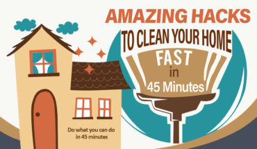 Clever Ways to Clean Your Home in Just 45 Minutes - Infographic
