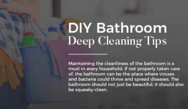 DIY Bathroom Deep Cleaning Tips - Infographic