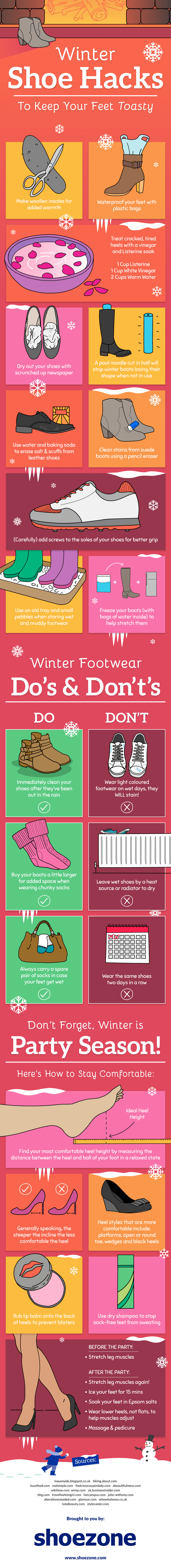 Winter Woes No More: Great Hacks to Protect Your Shoes and Feet - Infographic