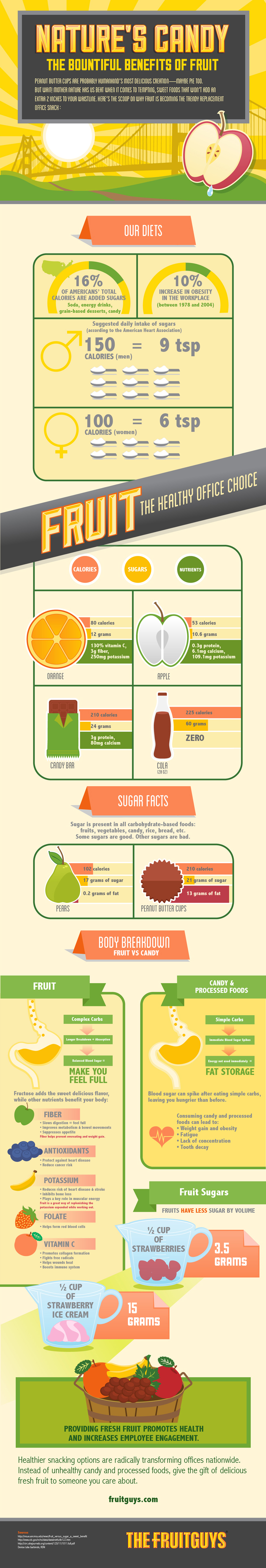 Fruits: Nature's Healthy Sugar - Infographic