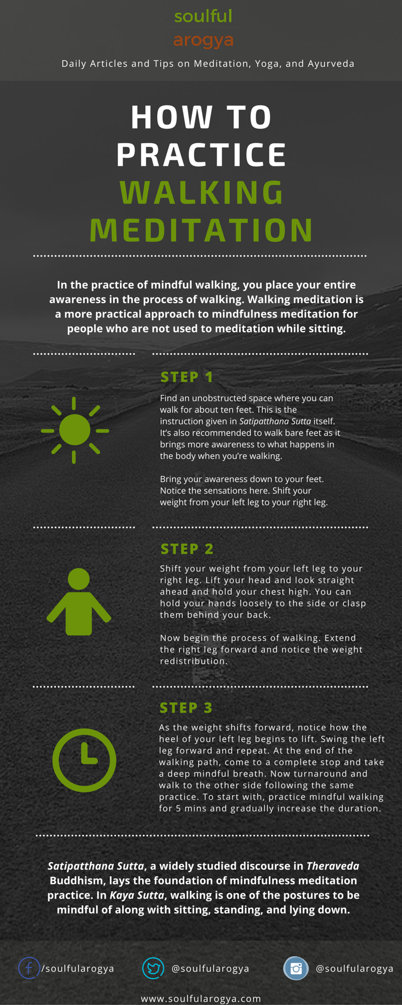 Mindful Walking Meditation: How to Do It - Infographic