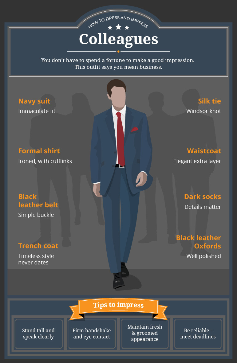 How To Dress And Impress Colleagues - Infographic