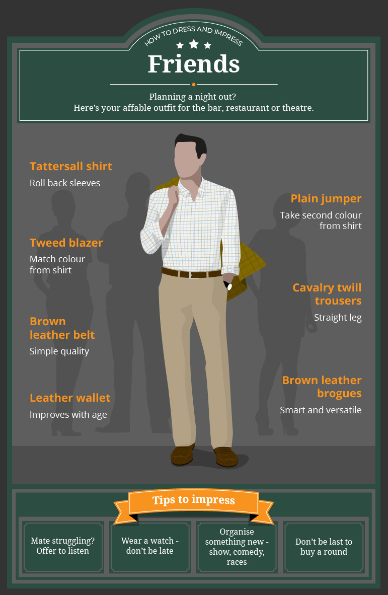 How To Dress And Impress Friends - Infographic