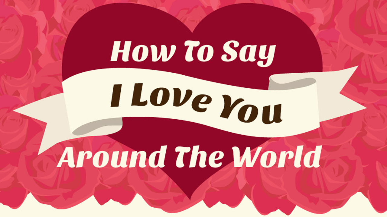 How to Express Your Love in 50 Different Languages - Infographic