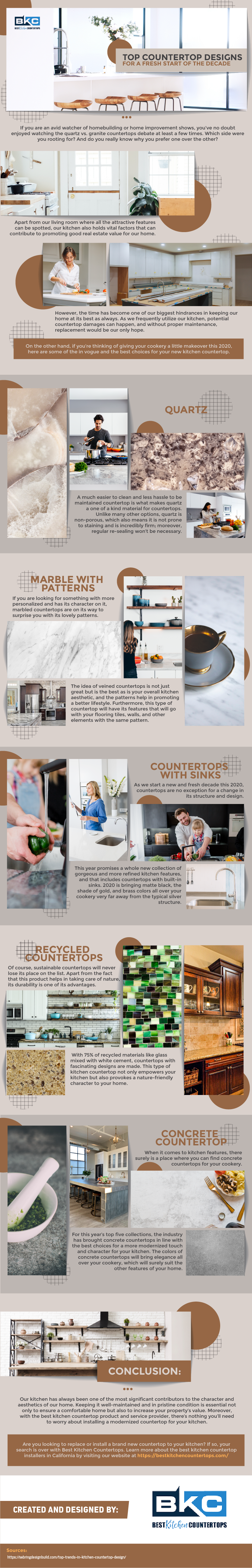 Top Countertop Designs for a Fresh Start of the Decade - Infographic