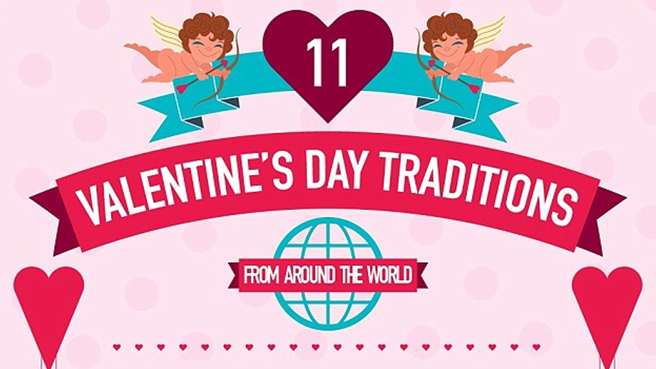 Unusual Valentine's Day Traditions and Practices Around the World - Infographic