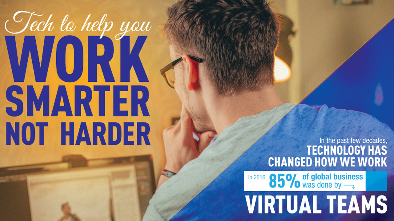 Tech That Can Help You Work Smarter, Not Harder - Infographic