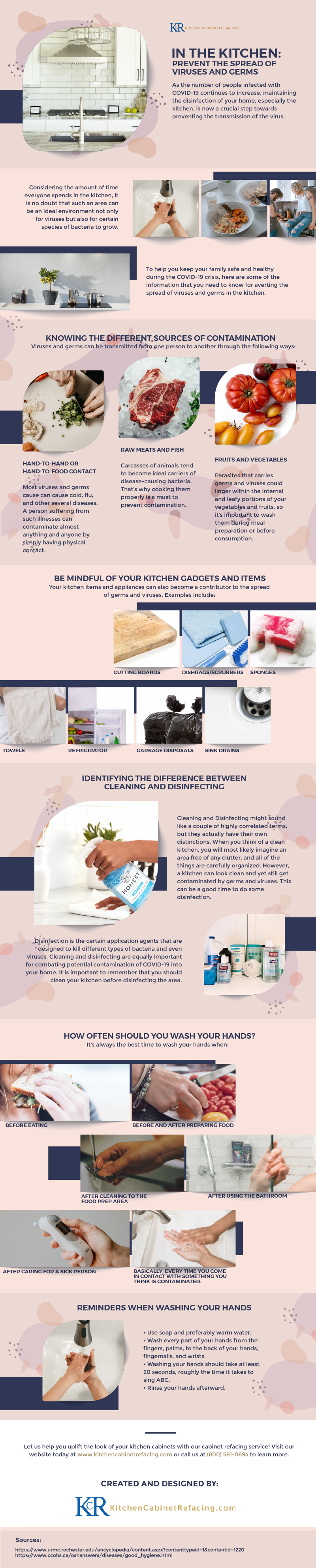 In The Kitchen: Prevent The Spread Of Viruses And Germs - Infographic