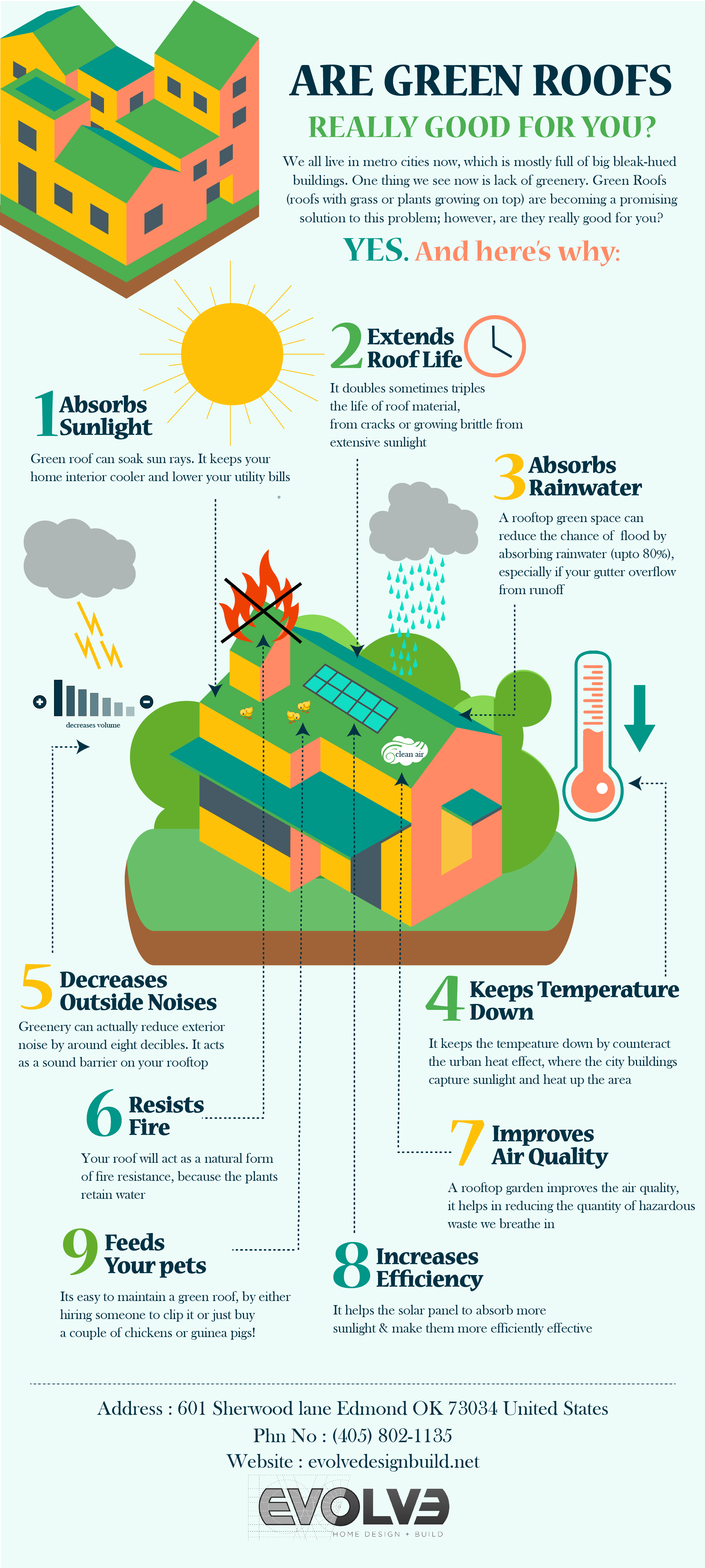 8 Reasons To Grow Plants On Your Roof - Infographic