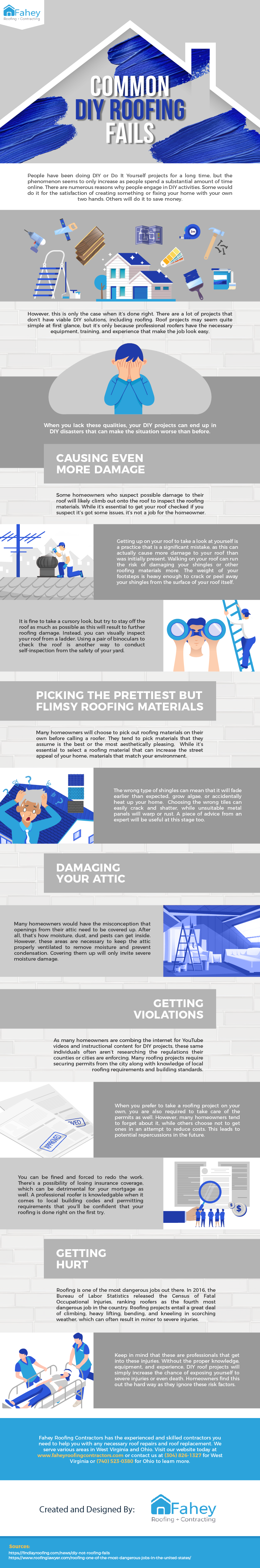 Common DIY Roofing Fails - Infographic