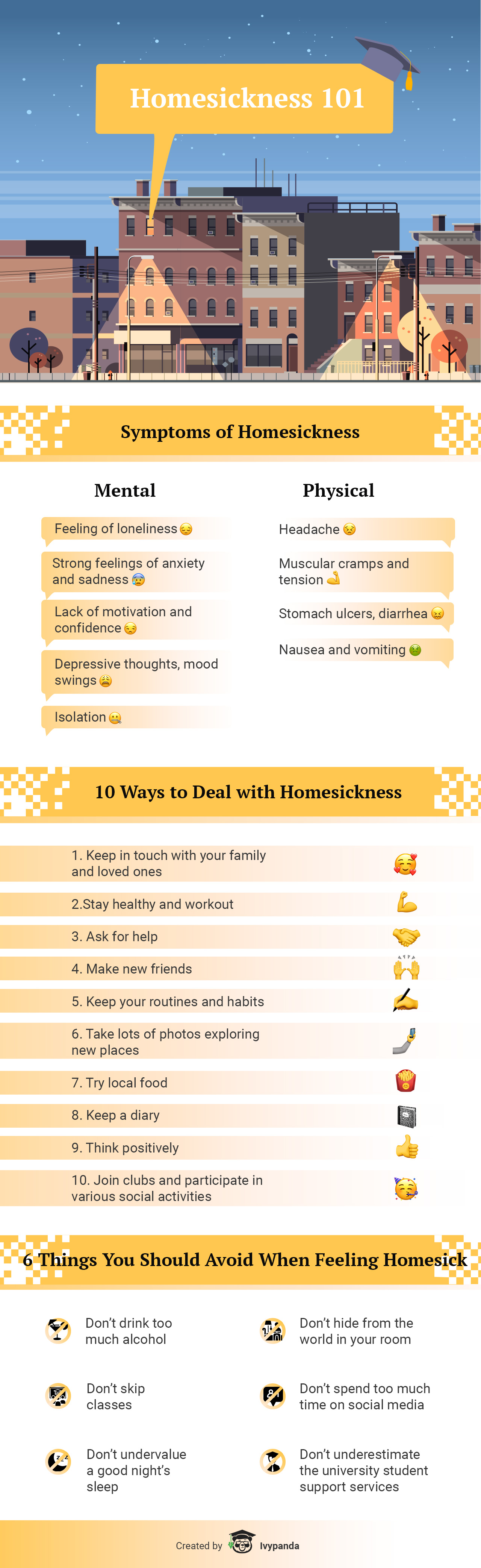 How to Avoid Homesickness at College - Infographic