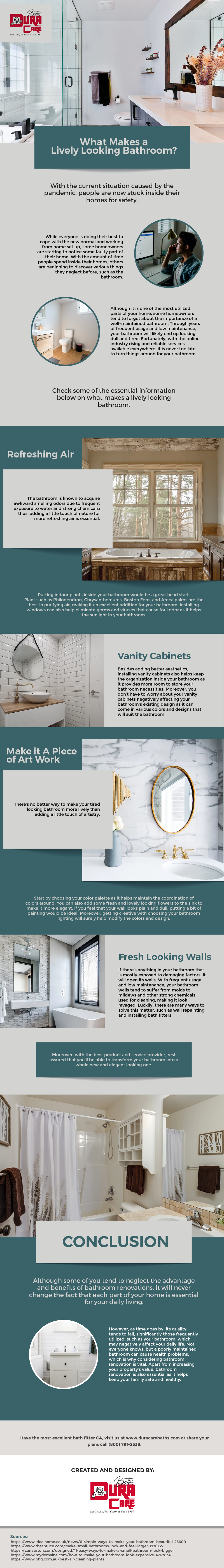 What Makes A Lively Looking Bathroom? - Infographic