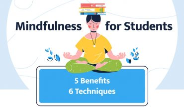 Mindfulness for Students: 5 Benefits & 6 Techniques - Infographic